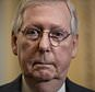 FILE - In this May 15, 2018, file photo, Senate Majority Leader Mitch McConnell, R-Ky., pauses as he speaks to reporters at the Capitol in Washington. In a surprise move, McConnell has withdrawn one of President Donald Trump's judicial nominees just minutes before he was set for a confirmation vote. McConnell announced July 19, 2018, that he was pulling the nomination of Ryan Bounds.  (AP Photo/J. Scott Applewhite, File)
