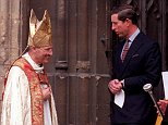 Victims of paedophile bishop Peter Ball, left, have previously demanded that correspondence between himself and Prince Charles, right, is made public (pictured together in 1992)