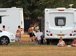 Setting up camp: The arrival of a large group of travellers has upset locals in the leafy village of Ham, west London