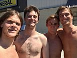 Hamish Rea, 22, Jack Emlyn-Jones, 22, and brothers Joseph and Nathaniel Weisberg, 20 and 22, jumped into action while on holiday in the US