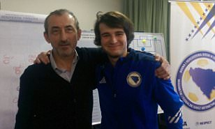 'Mini Mourinho'Ejdin Djonlic dreams of coaching in England after becoming youngest person