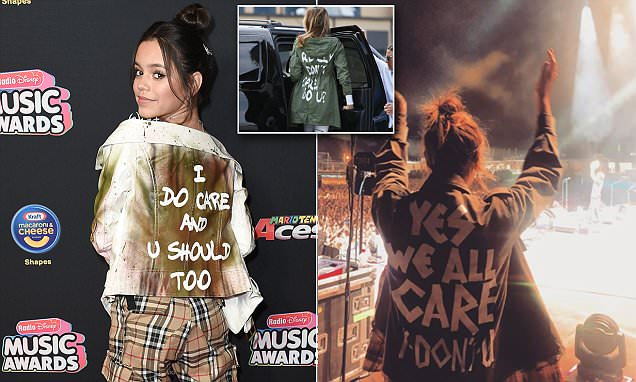 Celebrities lead the charge with their own 'I do care' jackets