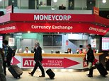 Airport currency exchanges were last night accused of ¿blatant profiteering¿ for offering holidaymakers up to a fifth less than the market rate