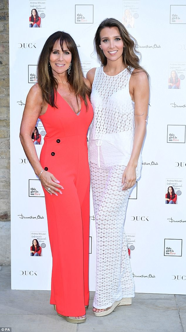 Babes: Linda Lusardi and Lucy Kane looked effortlessly glamorous as they posed away
