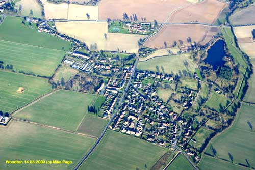This aerial photograph was of Woodton taken by Mike Page. See the local links for his web site