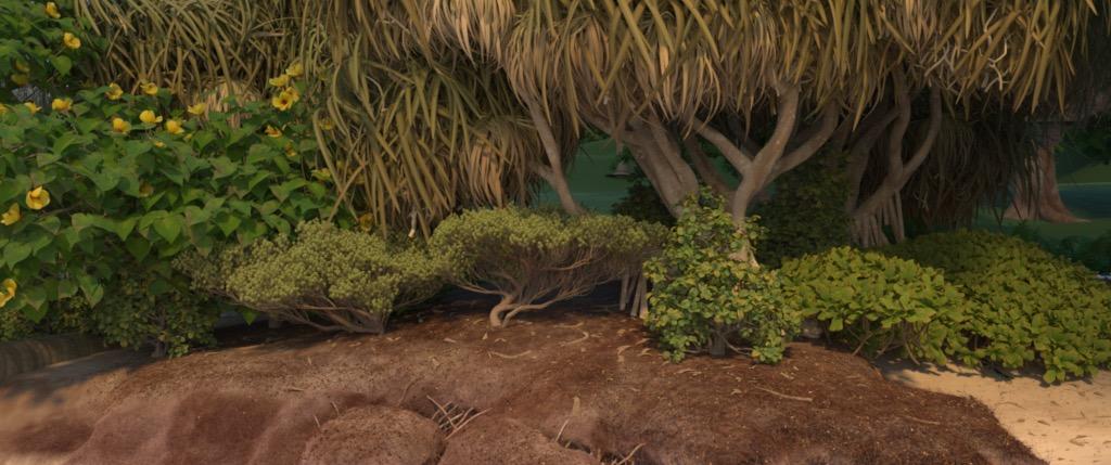Figure 5a: 'dunesACam' camera angle, rendered using Disney's Hyperion Renderer.