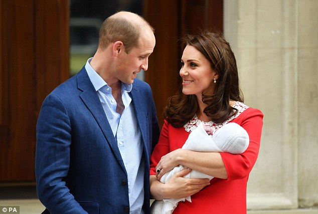Kate's stylist was photographed outside the Lindo Wing at St Mary's Hospital in London, shortly before the Duchess emerged to bring newborn Prince Louis home for the first time