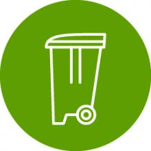 Link to the rubbish and recycling page
