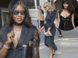 Pic shows Naomi Campbell at the funeral of Annabelle Neilson at Saint Pauls Church in Knightsbridge