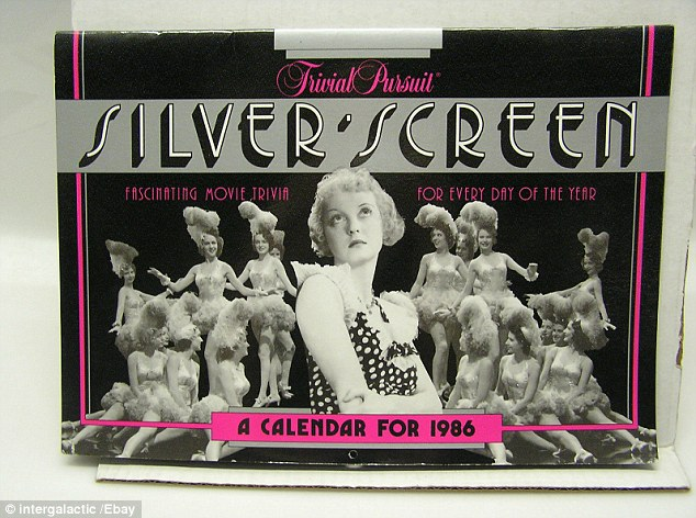 According to its eBay seller, this Trivial Pursuit Silver Screen calendar, with 365 questions, came from the collection of 'a lady who attended lots of plays in Dallas, San Francisco, LA and NY during the 1940s through to the 1970s. It is selling for $17.99