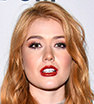 Edgy: Katherine McNamara wowed in wet look leggings at Comic-Con International 2017 in San Diego