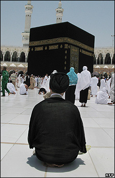 Shia pilgrin in the Grand Mosque at Mecca