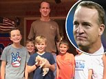 NFL legend Peyton Manning has given a horribly abused dog (pictured) a second chance at life, and having a forever home