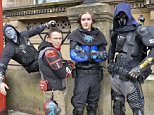 The four crime-fighters are codenamed Knight Warrior, Templar, Black Mercer and Radical Retail assistant Roger Hayhurst, 26, goes by the name Knight Warrior (second from right) Ex-soldier and insurance broker Tim Taylor, 38, calls himself Templar (second from left)