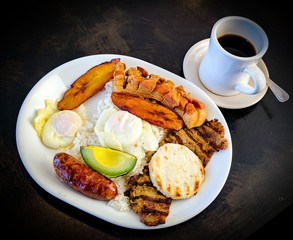 Colombian Meal and Coffee