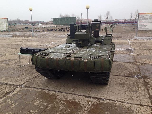 MRK-002 BG-57 unmmaned ground combat vehicle UGV Russia Russian army defense industry 640 001
