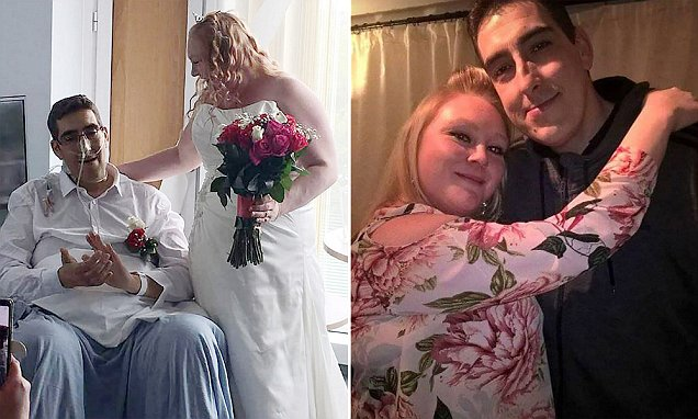 Bride marries her husband then watches him die of cancer on their wedding night