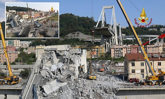 Death toll from Genoa bridge collapse is 43 and all missing accounted for as clean-up