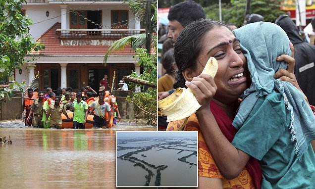 India flooding death toll rises to 350 with more than 800,000 people displaced