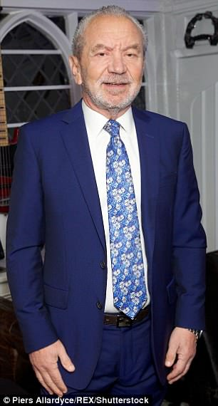Lord Sugar (pictured in Essex in February 2016) initially refused to apologise