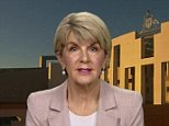 Potential leadership contender Julie Bishop (pictured) has been put on the spot in an awkward early morning interview