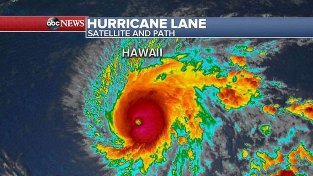 Category 4 hurricane bearing down on Hawaii with 130 mph winds, torrential rain