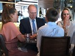 The sulking former Home Affairs Minister, Peter Dutton was spotted having a bite to eat with his family after his defeat at about 3pm at a Canberra restaurant