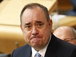 Alex Salmond, former First Minister of Scotland, has been accused carrying out two assaults while in office in 2013 (pictured at Scottish Parliament Septmeber 2013)