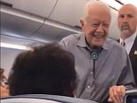 He's just like us! Jimmy Carter, 93, says he only flies commercial in his humble post-presidency