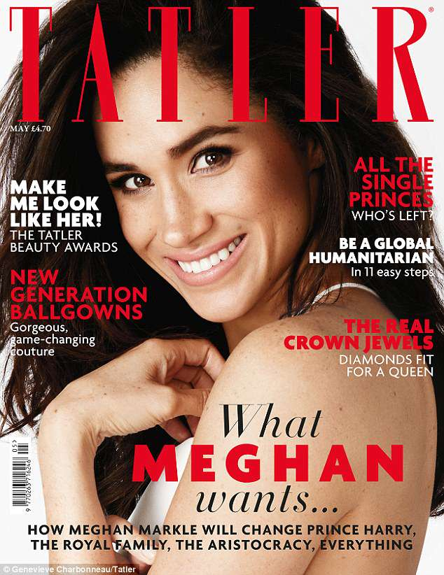 A royal star: Meghan Markle looks radiant on the cover of the May issue of Tatler