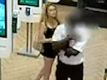 The blonde woman in a black dress is said to have sworn at the staff member in McDonald's