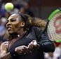 Serena Williams returns a shot to Venus Williams during the third round of the U.S. Open tennis tournament, Friday, Aug. 31, 2018, in New York. (AP Photo/Adam Hunger)