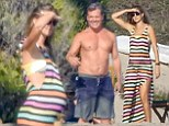 Malibu, CA  - Josh Brolin and Kathryn Boyd spend the sunny day at the beach. Kathryn is pregnant with their first child.\nPictured: Kathryn