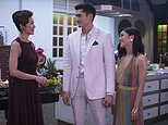 "This image released by Warner Bros. Entertainment shows Michelle Yeoh, from left, Henry Golding and Constance Wu in a scene from the film ""Crazy Rich Asians."" (Sanja Bucko/Warner Bros. Entertainment via AP)"