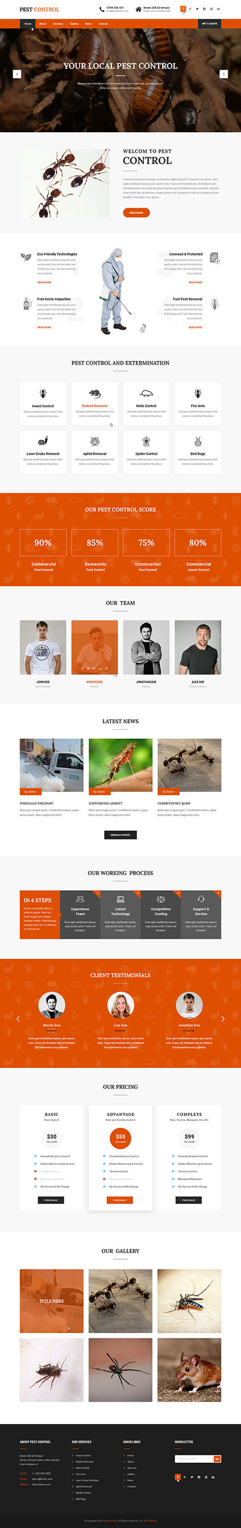 pest control WordPress theme