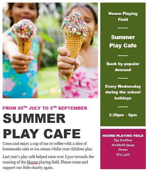 Summer Play Cafe @ Hoxne Playing Field