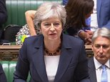 The Prime Minister delivered a stinging attack on Mr Corbyn as the leaders clashed at PMQs for the first time after the summer break (pictured)