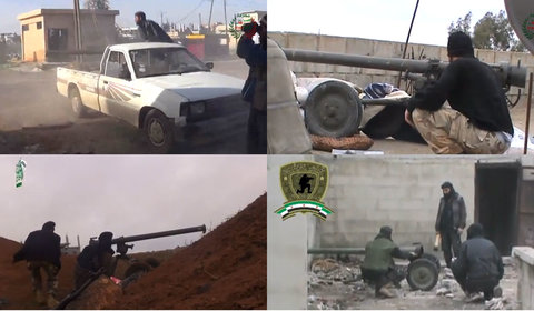 What appear to be  M60 recoilless guns in Syrian videos posted to Youtube.