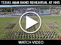 Texas A&M Band rehearsal at HHS