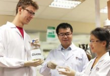 A team of researchers led by Assistant Professor Yan Ning (centre) from the National University of Singapore has developed a greener, faster and cheaper way to produce amino acids using plant-based waste. This novel invention could potentially transform the food, pharmaceutical and chemical industries.