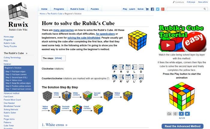 rubiks cube how solve tutorial