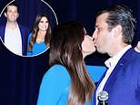 Look of love: Kimberly Guilfoyle and Donald Trump Jr. at a reception in honor of Danny Tarkanian in Las Vegas, Nevada