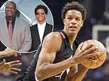(From left to right)Myles O'Neal, Shaquille O'Neal, Shareef O'Neal and Shaqir O'Neal attend the 2018 NBA Awards Show at Barker Hangar  in Santa Monica, California. Shareef was expected to play for UCLA this year, but will miss the season following heart surgery