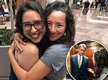 Maria Gallagher and Ana Maria Archila (pictured) who confronted Sen. Jeff Flake Friday embrace after it is announced an FBI probe into allegations by Christine Blasey Ford take place