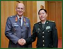 Lt. Gen. Qi Jianguo, deputy chief of general staff of the Chinese People's Liberation Army (PLA), held talks with Arto Räty, permanent secretary of the Finnish Ministry of Defense (MOD), who came to China for an official good-will visit, in Beijing on the morning of October 22, 2012.