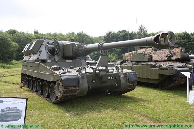 AS90 Braveheart 155mm tracked armoured self-propelled howitzer United Kingdom British army military equipment 640 001
