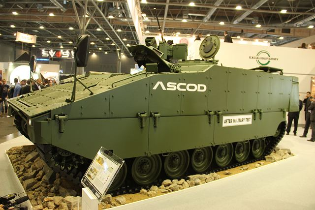 ASCOD light tracked armoured vehicle IDET 2015 International Exhibition Defence Security Technologies 001