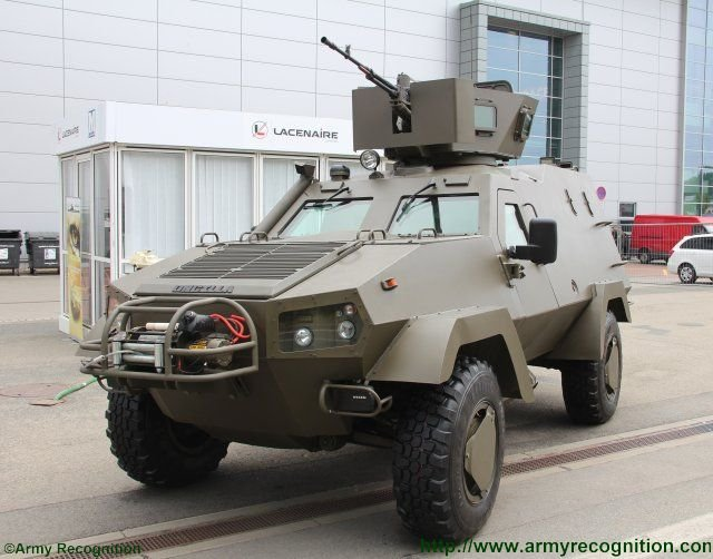 Upgraded Lacenaire s Oncilla armoured personnel carrier unveiled at IDET 2015 640 001