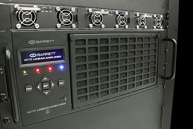 E-mail and messaging have become the common and preferred methods in modern communications. Barrett's innovative liquid cooled amplifier, when married with the Barrett 4050 SDR Transceiver to produce the Barrett 4075 HF High power transmitter, will run continuously at high power for extended data transmission and at optimum temperatures resulting in greater reliability.