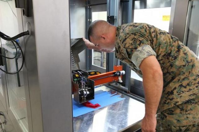 Marine Corp Systems Command and the 2nd Maintenance Battalion at Camp Lejeune are overseeing the field evaluation of a prototype X-FAB, or expeditionary fabrication, for future development. The X-FAB is a collapsible 20x20-feet shelter that houses four 3D printers, design software computer systems and a scanner. It would allow for the rapid fabrication of parts at the battalion level using additive manufacturing.
